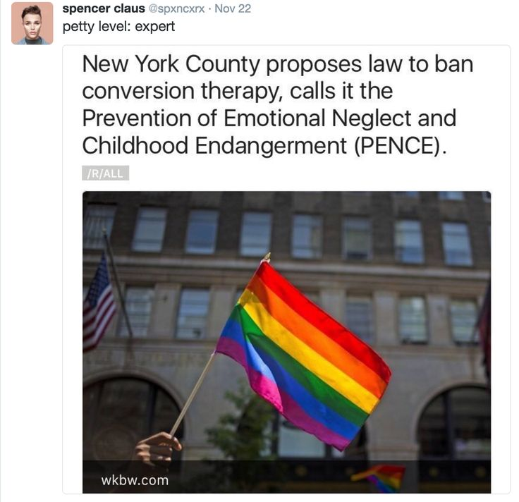 Proposed PENCE law -- as above. See http://fortune.com/2016/11/22/conversion-therapy-ban-mike-pence-law/