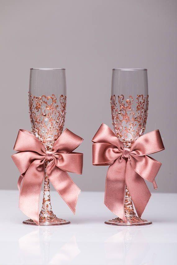 Pin De Luiza Coker En Weddings Copas De Champán De La Boda Copas De Novios Decoracion Cumpleaños De 15