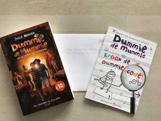 Vanaf 4 oktober is er een nieuwe Dummie de Mummie film; De Tombe van Achnetoet. Daar hoort natuurlijk een toepasselijke #winactie bij in samenwerking met Doortjes Blog  http://www.mamaliefde.nl/blog/dummie-de-mummie-bioscoopfilm/