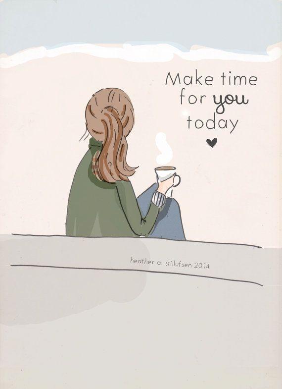 Wand Kunst für Frauen Make Time für Sie von RoseHillDesignStudio