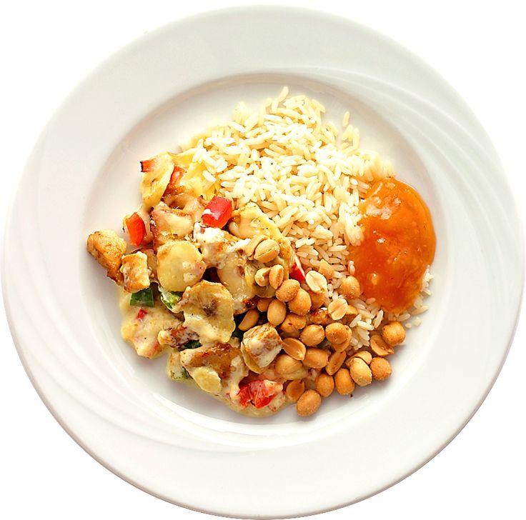 Gratinerad fläskfilé med banan och curry | Recept.nu