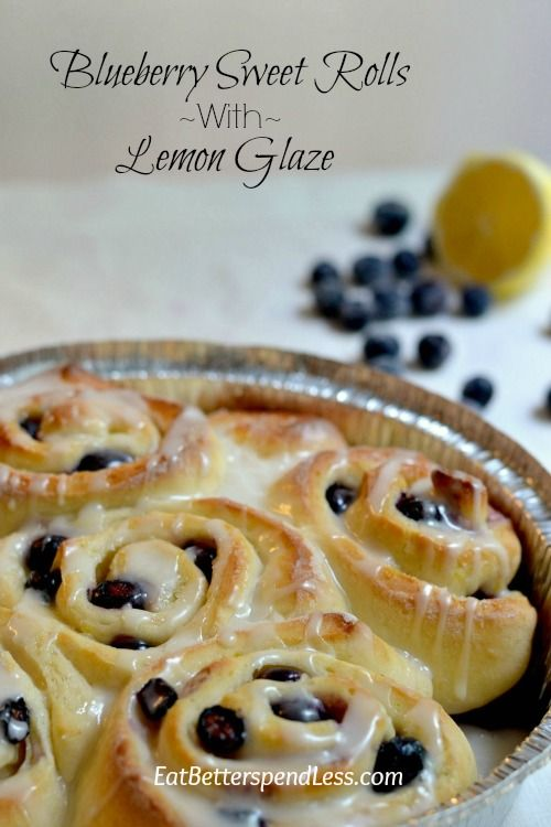 These Blueberry Sweet Rolls are a nice alternative to Cinnamon Rolls. They're not too sweet but still so delicious. Great for a special breakfast or even to give as a gift.