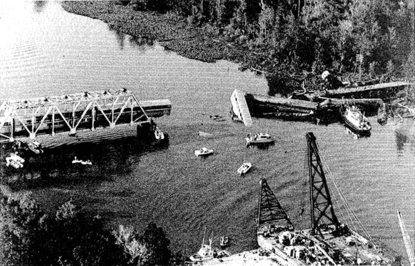 The wreck of the Sunset Limited at Big Bayou Canot