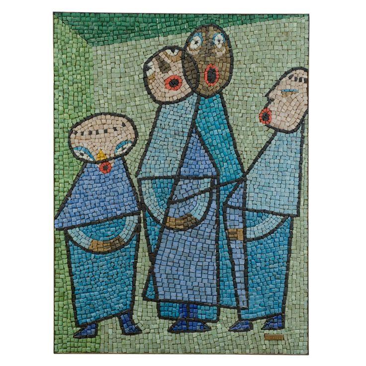 1950s Italian Mid Century Modern Brass And Mosaic Tile Top: 18 Best Mid Century Modern Mosaics Images On Pinterest