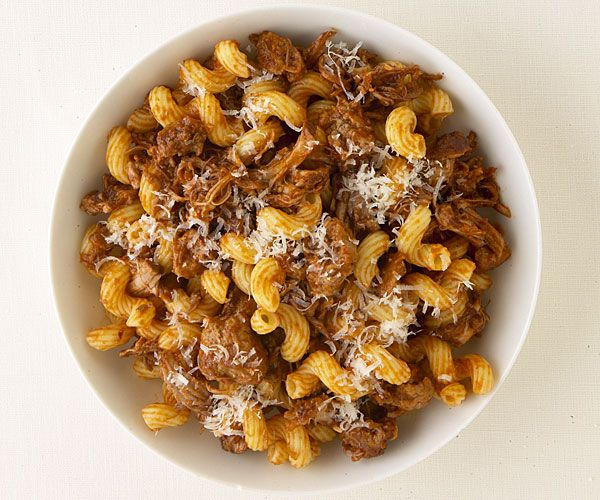 Unlike the Ragú brand pasta sauces that most of us are familiar with, Ragù is the Italian word for a meat-based sauce commonly served with pasta.  The meats are braised or simmered for long amounts of time and then become the most important part of the dish.  We found this recipe from Fine Cooking for Pasta with Sicilian Pork and Sausage Ragù and it looks amazing!