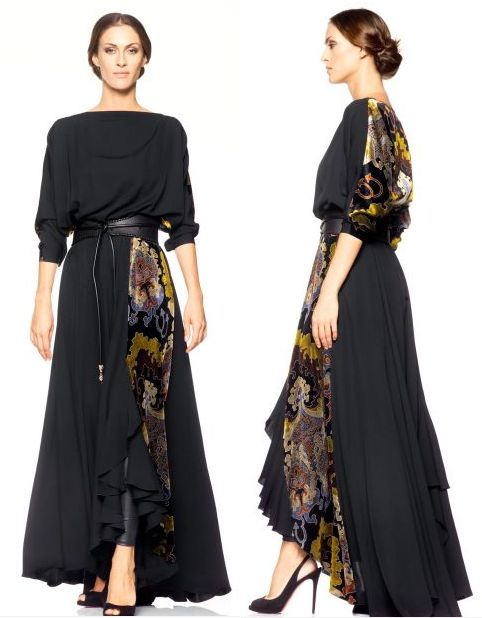 abaya dress with print