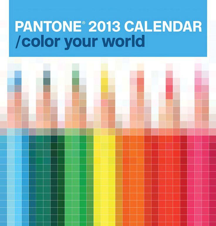 pentagram: pantone 2013 calendar
