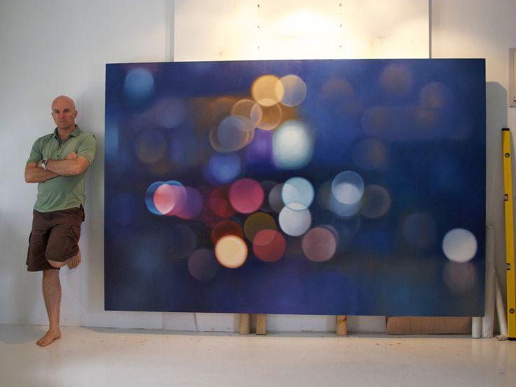 """Light Train II"" by Philip BarlowPhilip Barlow, Lights Training, Training Ii, Art Inspiration, Lights Painting, Barlow Lights, Amazing Artists, Painting Lights, Artinspir"