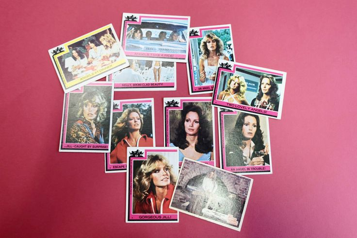 Vintage 70s Kitsch Retro Charlie's Angels Trading Cards, Farrah Fawcett Jaclyn Smith Kate Jackson 1970s TV Detective Show Memorabilia by FoxxLuxCollection on Etsy