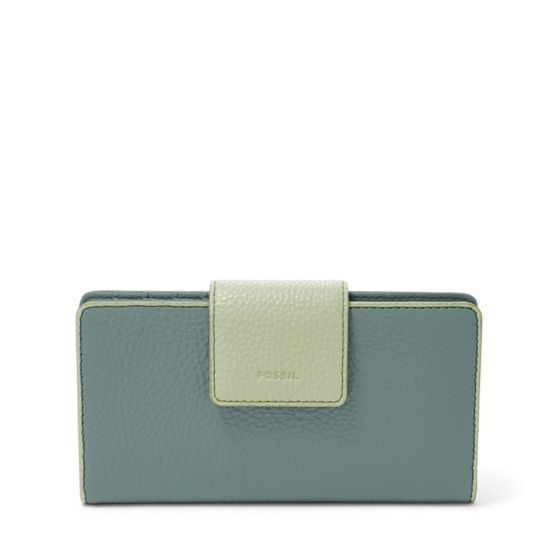 Designed in glazed leather in arctic mist, Emma's roomy interior with plenty of pockets make it your go-to clutch.We've designed this clutch with a special lining to help protect the Radio Frequency Identification (RFID) chips in your credit and debit cards from unwarranted scanning.