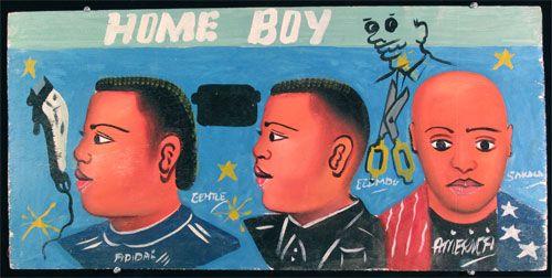 Indigo Arts Gallery | African Barber Signs | Ghana