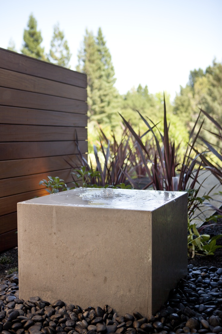 Bay area landscape architects -  _ Could Have The Dividers Expansion Joints In Front Walk Match The Pebbles Arund A Water Feature From Houzz This One Is Ohashi Landscape Design Ideas