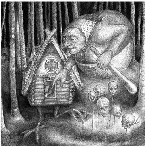 Baba Yaga by thehermitage on Etsy, £12.00