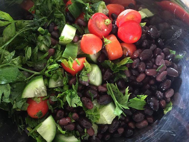 Parsley & Black Bean (home-made) salad #fresh #food #tasty #thebest #nourish