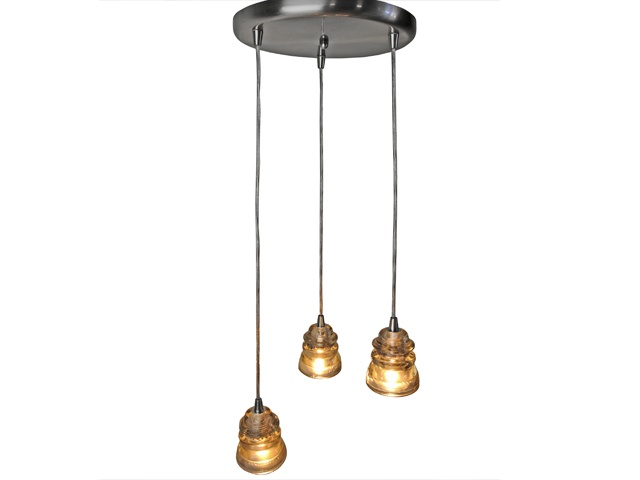 Repurposed Lighting Fixtures. Repurposed Antique Glass Insulator 3 Light  Chandelier   Sold! Relique