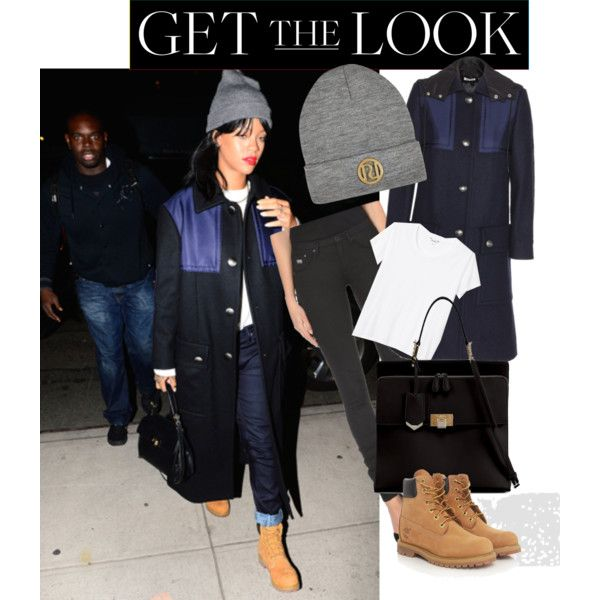 Rihanna Get the Look by llriahll on Polyvore featuring Monki, Miu Miu, G-Star Raw, Timberland, Balenciaga and River Island