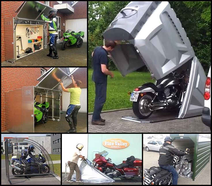 Best 25 motorcycle storage shed ideas on pinterest for Motorcycle storage shed