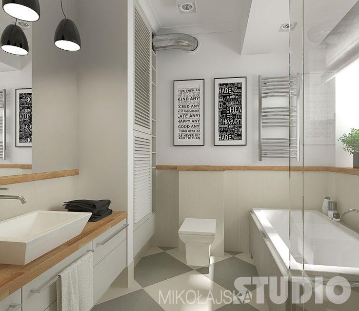 Jasna łazienka w stylu vintage #biała łazienka #wnętrza