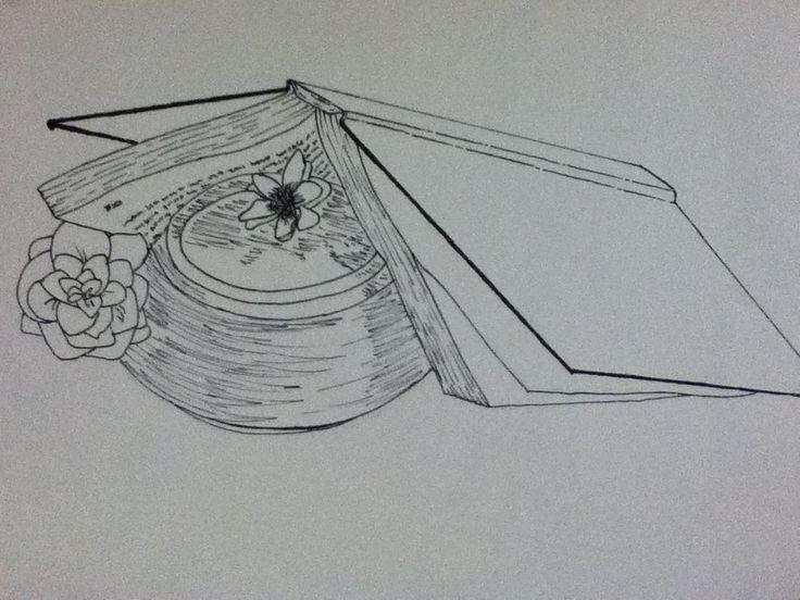 Contour Line Drawing Still Life : Still life contour line drawing a v arts pinterest