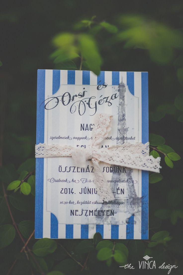 Vinca Design, France inspired wedding, wedding invitation, La Tour Eiffel // francia esküvő, esküvői meghívó, Eiffel-torony