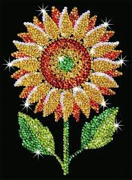 Sequin sewing sunflower