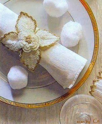 Mille idee perNatale: Portatovaglioli bianco e oro
