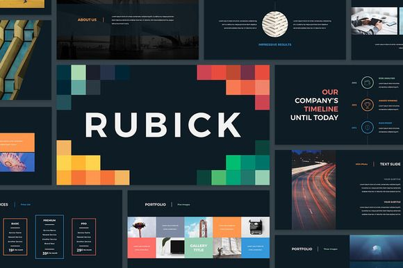 Rubick #PowerPoint #Template by SlideStation on @creativemarket