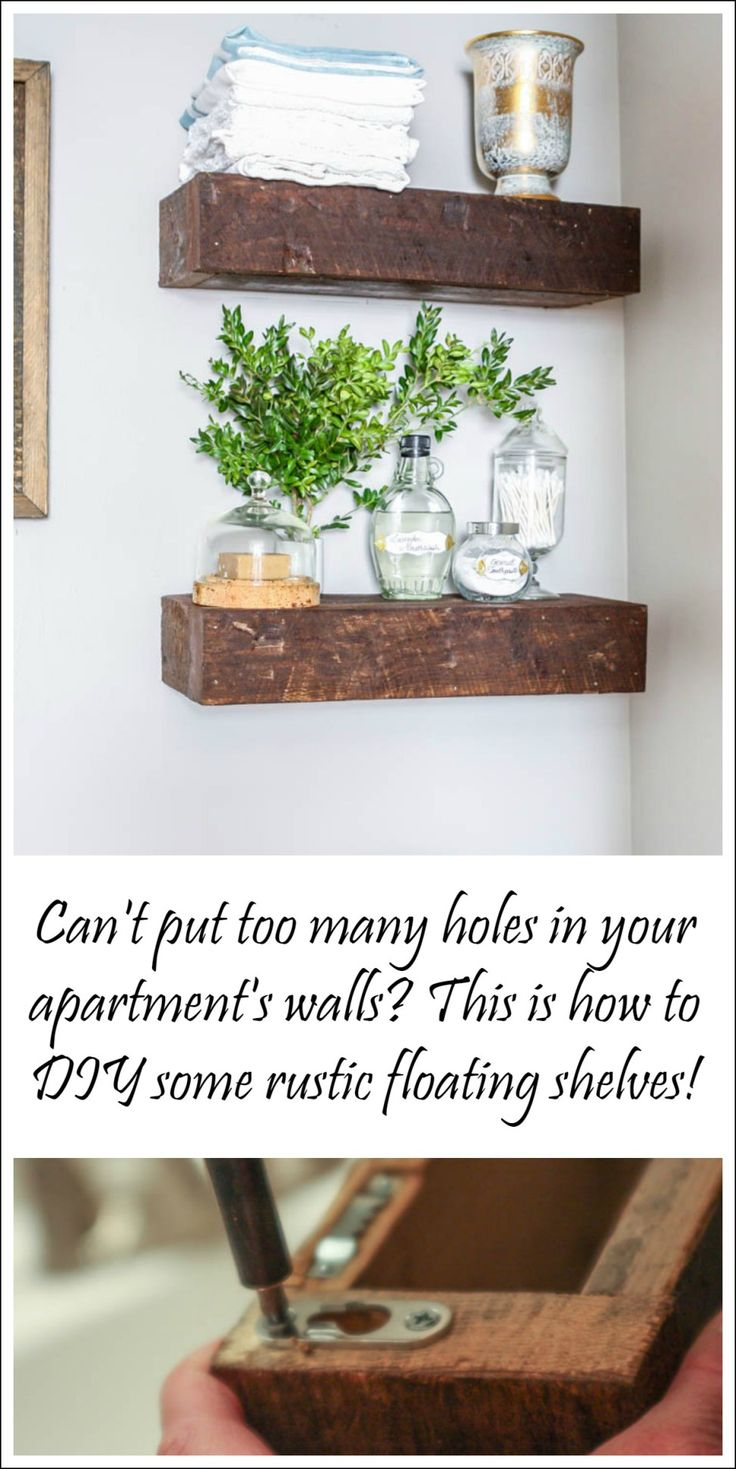 DIY floating shelves for your apartment