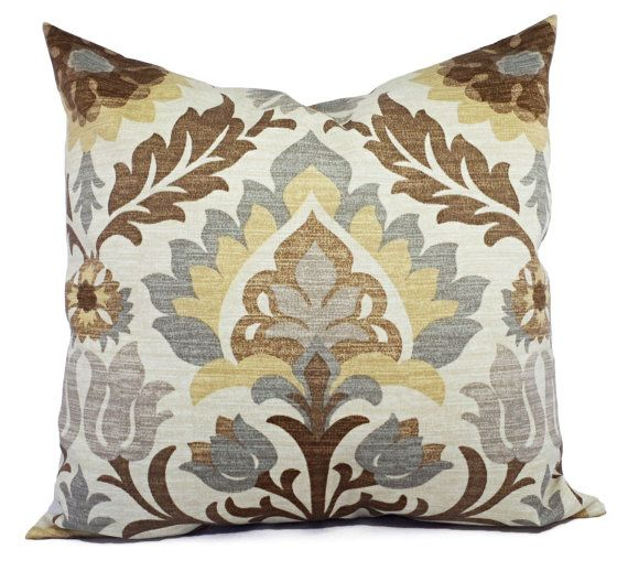 Two Brown Outdoor Pillow Covers - Brown Outdoor Pillows - Tan Patio Pillows - Couch Pillow Cushion Cover Accent Pillow