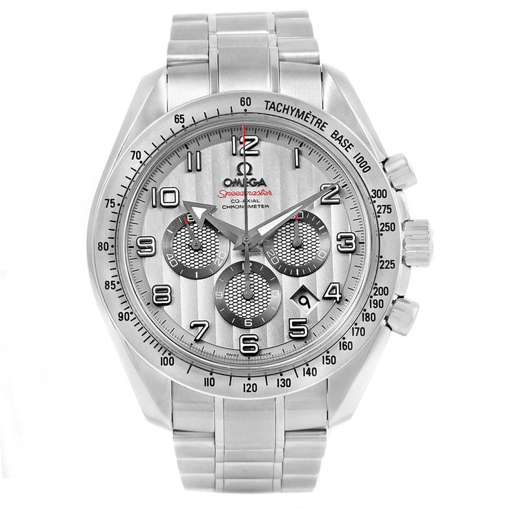14904 Omega Speedmaster Broad Arrow Silver Dial Watch 321.10.44.50.02.001 Box Papers SwissWatchExpo