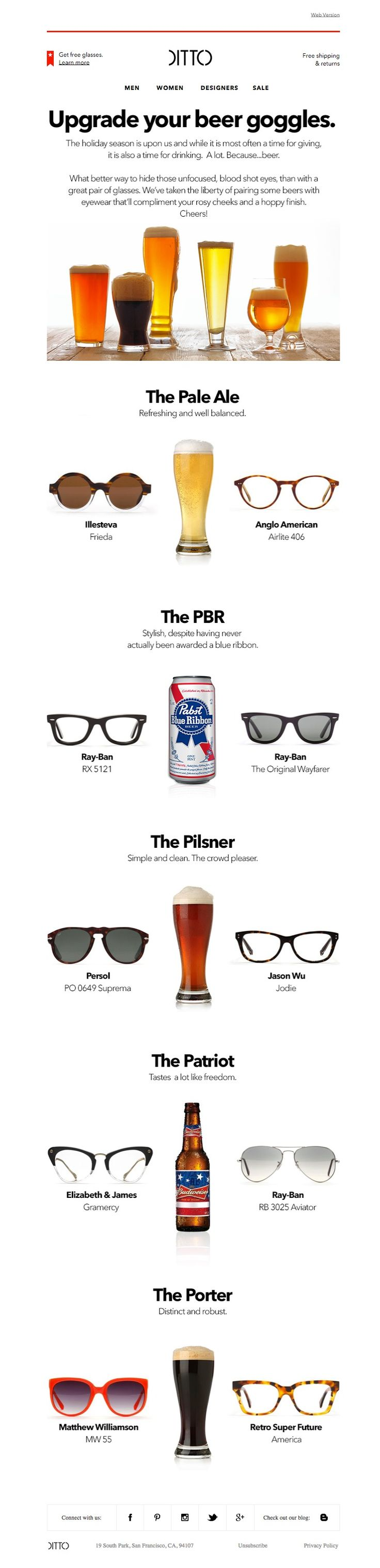 #newsletter Ditto 10.2014 Upgrade your beer goggles.
