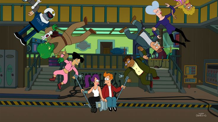 """Futurama, Season 9: """"Meanwhile"""" - The other contender for my favorite-ever Futurama episode. They pulled out all the stops for the last episode. The premise is another Futurama classic involving time travel (10 seconds at a time) and there's finally a resolution to the question of Fry and Leela's relationship."""
