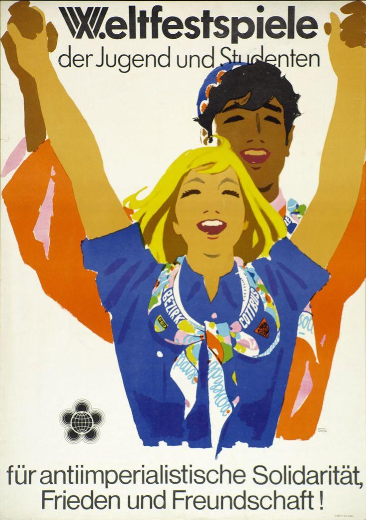 Werbeplakat zu den X.Weltfestspielen in Ost-Berlin 1973