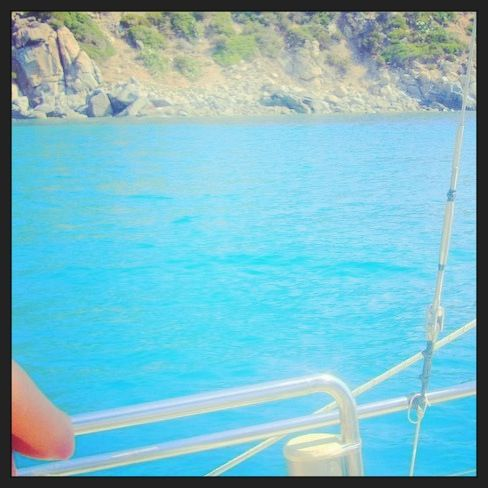 On the boat in Sardaigne!