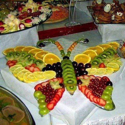Butterfly fruit tray! Kristy I thought of you when I saw this!!!