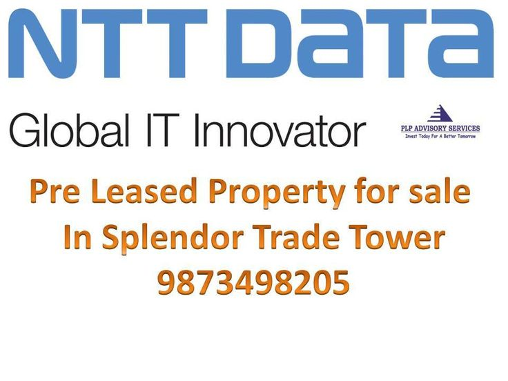 pre leased office space rented out to NTT Data for sale splendor trade tower Golf course extension road Gurgaon Pre leased property for sale in Gurgaon Pre rented property for sale in gurgaon Pre leased property for sale in Gurgaon, pre rented property...