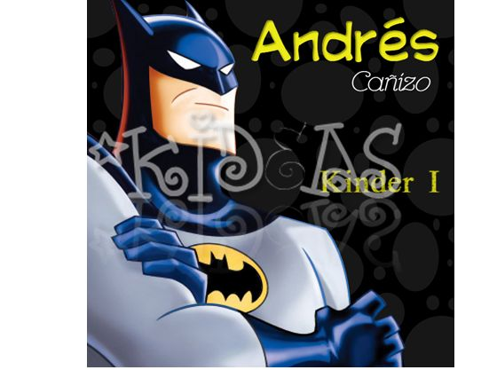Batman #back2school #etiquetas #escolares #stickers #etiquetatodo #maskideas