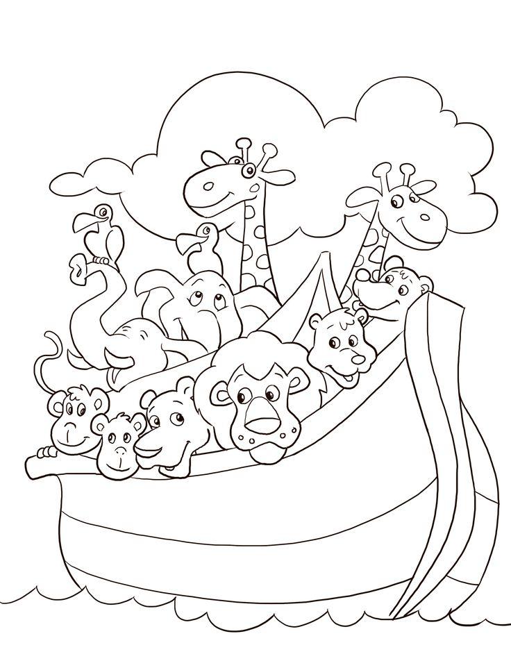 coloring pages noahs ark - photo#14