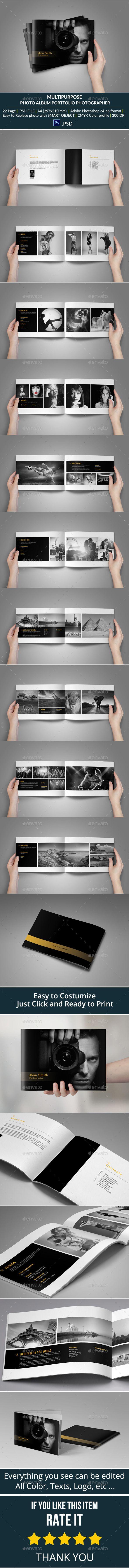 Portfolio Photographer Album Template #design Download: http://graphicriver.net/item/portfolio-photographer/9448257?ref=ksioks
