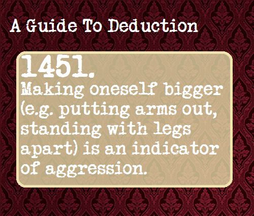 A Guide To Deduction. Yup, I do this. Am I aggresive? AM I???!!!!!! (Teehee, see what I did there? ^.^)