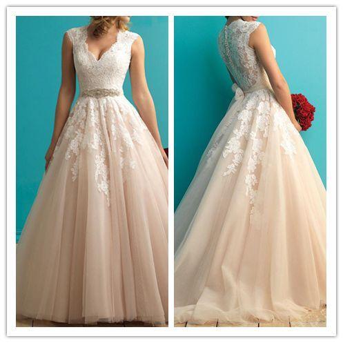 2016 Marvelous Tulle Jewel Neckline Mermaid Lace Wedding Dress #W029