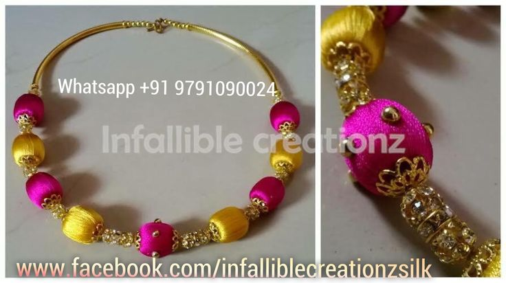 """To order  Whatsapp +91 9791090024 For more collections visit  """" www.facebook.com/infalliblecreationzsilk """"  Silk Thread Necklace, Silk Thread jewelry, Silk Thread neckwear, silk Thread Choker, silk thread sets, Grand Silk Thread Necklace, Silk Thread Party wear, Return Gifts, Wedding Gifts, Gifts for Bride, Seemandham Gifts, Gigts for women, Gifts for girls"""