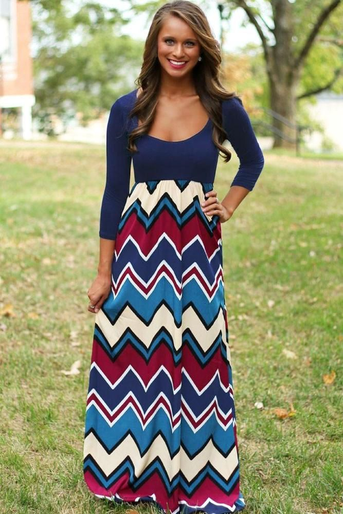 Robes Maxi Best Day Jamais Chevron Robe Imprimee Pas Cher www.modebuy.com @Modebuy #Modebuy #CommeMontre #dress #me #basprix