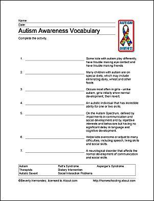 Autism Awareness Printables - Autism Awareness Wordsearch. Print the Autism Awareness Word Search and find the Autism Awareness related words.
