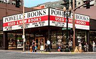 Photograph of Powell's City of Books on Burnside St. Portland Oregon