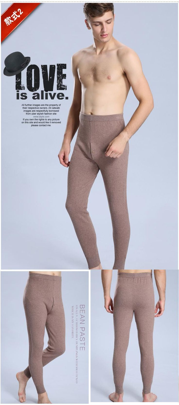 Aliexpress.com : Buy Cashmere Winter Thermal Underwear For Men Merino Wool Pants Long Johns Sexy Legging Masculina Pantalon Termico Black Gray from Reliable underwear top suppliers on YanYang International Company Ltd.
