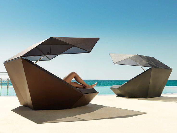 Faz collection, outdoor sun pod's in black