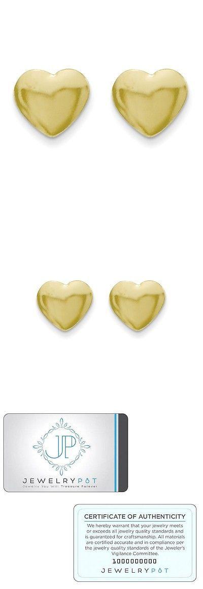 Earrings 98476: 14K Yellow Gold Children S Heart Screw Back Earrings (5Mm) -> BUY IT NOW ONLY: $30.99 on eBay!
