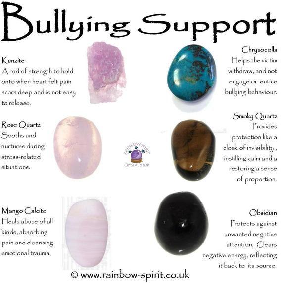 Bullying Support Crystal Set Crystal Healing Stones Crystal