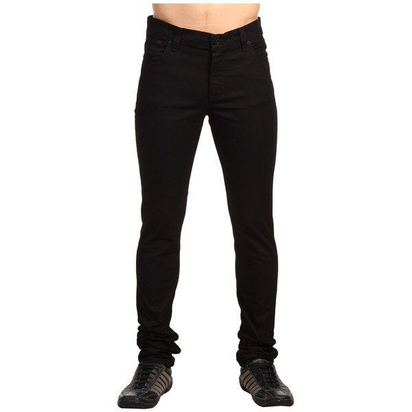 Levi's   Mens 510 Skinny (Jet (Black)) Men's Jeans ($50) ❤ liked on Polyvore featuring men's fashion, men's clothing, men's jeans, pants, guy, jeans, mens zipper jeans, mens patched jeans, mens leather skinny jeans and mens jeans
